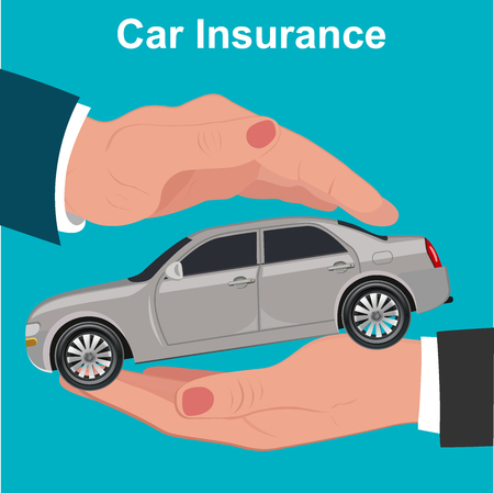 customer facing: Car , protection concept, illustration