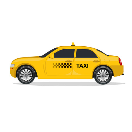 headlights: Taxi, car, illustration Illustration