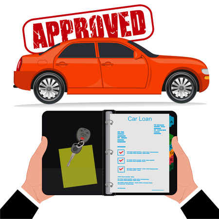 Approved car loan, vector illustration, flat style