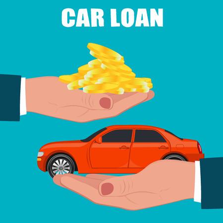 car loan concept, vector illustration