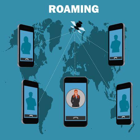 roaming: roaming concept, illustration