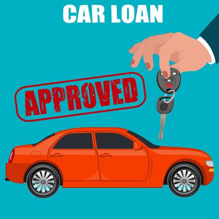 car loan, flat design, illustration
