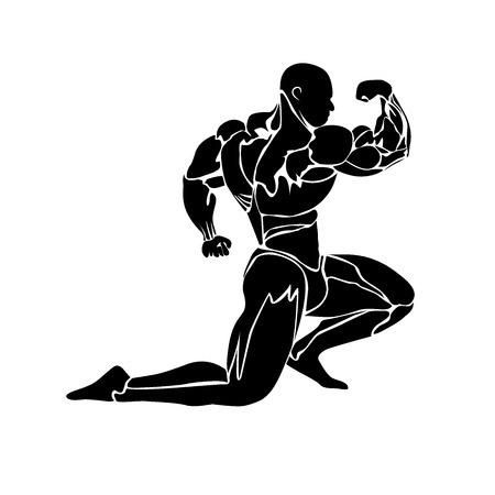 steroids: bodybuilding concept, muscles, vector illustration Illustration
