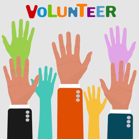 vrijwilliger concepten, vector illustratie