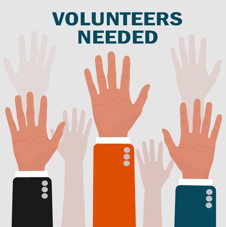 needed: volunteers needed concepts, vector illustration