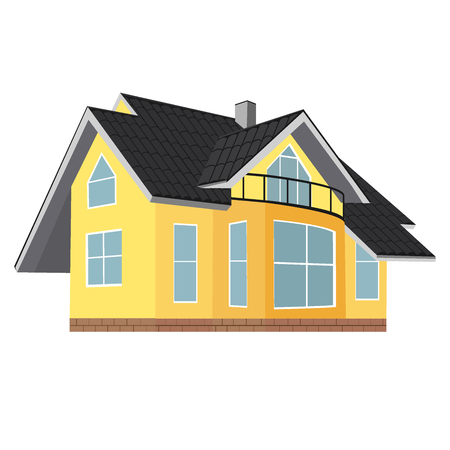 home, house, real estate, vector illustration, flat design Ilustração