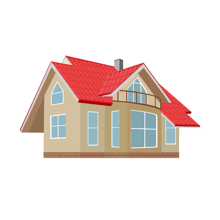 home, house, vector illustration, flat design