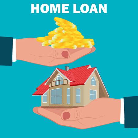 home loan, mortgage, flat design, vector illustration Ilustração