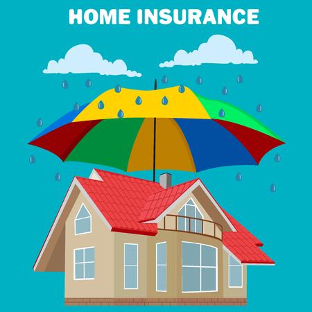 la maison notion d'assurance, élément de design, illustration vectorielle