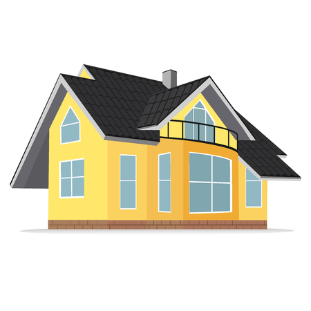 real estate house: house, home, real estate, vector illustration
