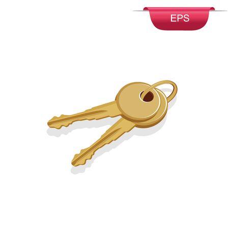 keys, design element, vector illustration Illusztráció