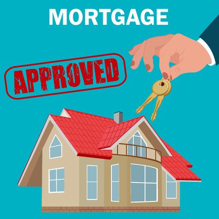 mortgage, vector illustration