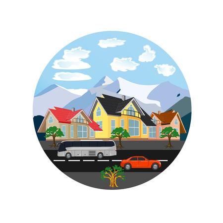 city landscape, vector illustration Ilustrace