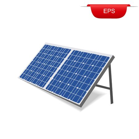 solar panel, renewable energy, vector illustration