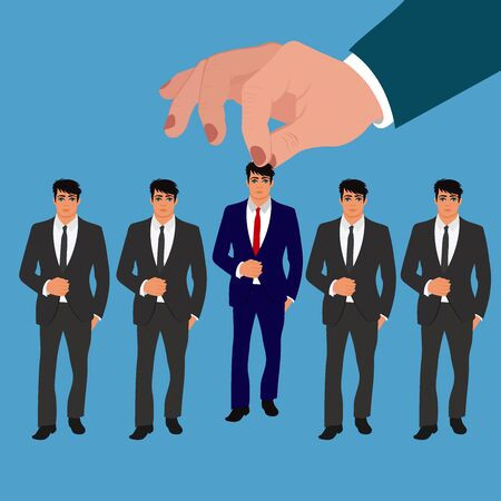 hr management, recruitment, candidate for job, vector