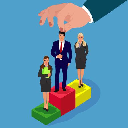 curriculum vitae, hr management, recruitment, candidate for job, vector Иллюстрация