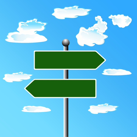 Blank, Street, sign,  illustration