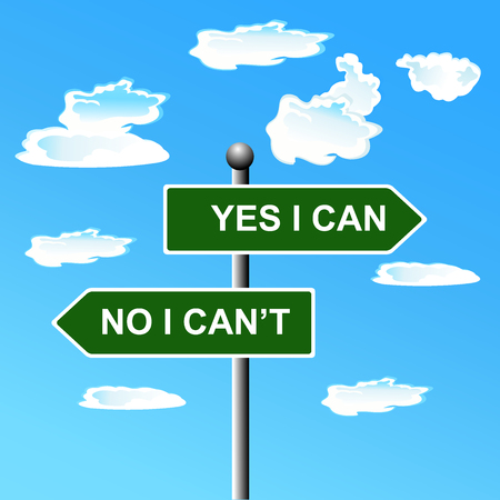 Yes, I, can, two-way, street, sign, illustration