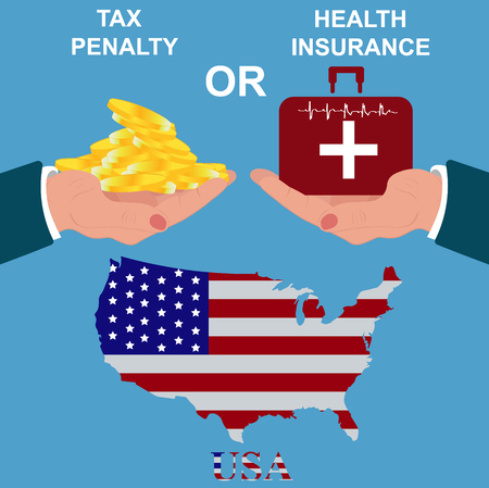 debt collection: Heath insurance, vector illustration Illustration