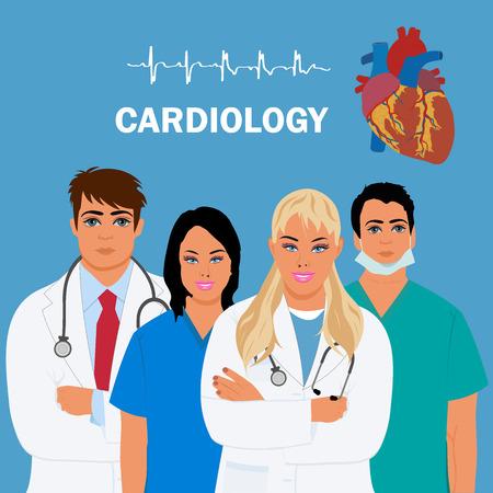 cardiology concept, heart doctor, vector illustration Vector Illustration