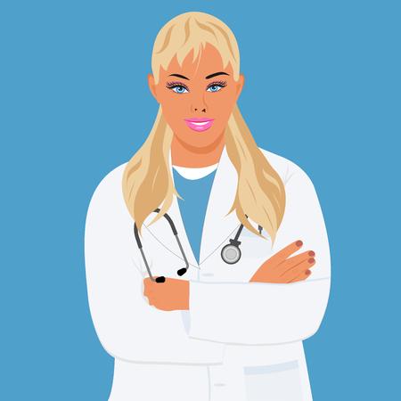 Physician, doctor, nurse, vector illustration Illustration