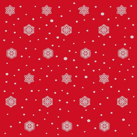 snow fall: snow fall and flakes and red background. pattern