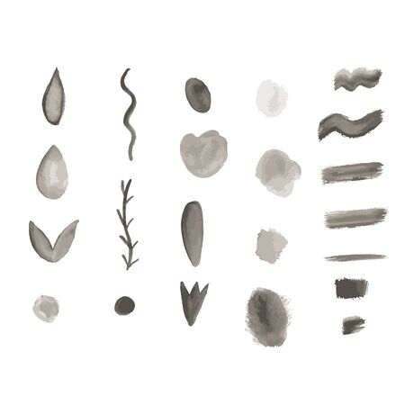 watercolor brushes. vector