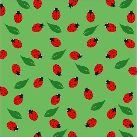 lady bug pattern Иллюстрация