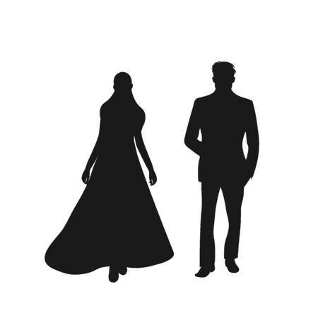 bride and groom. vector illustration. icon