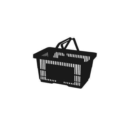 shopping basket. icon. vector illustration