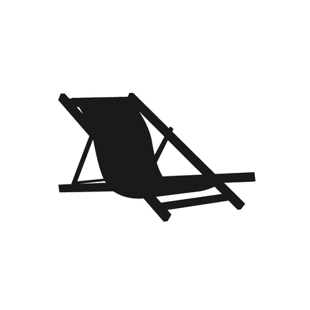 recliner: lounge chair. icon. vector illustration Illustration