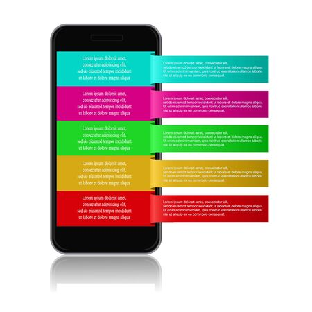 cellphone: cellphone with reminder notes. vector