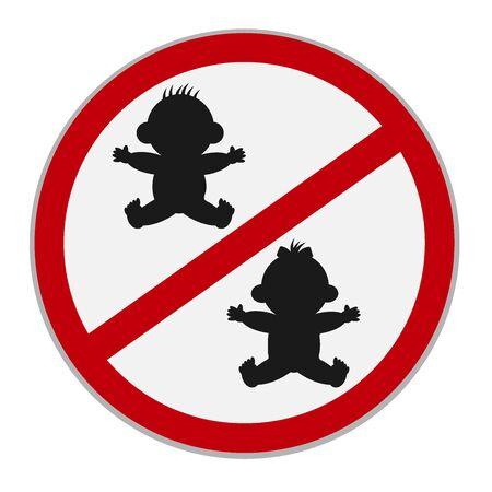 no kids allowed sign, vector Illustration