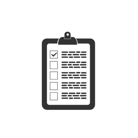 Notities pictogram, vector op een witte achtergrond.