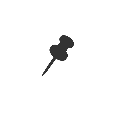 Pin icon, vector on a white background. Vettoriali