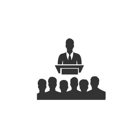 handelsconferentie, pictogram, vector