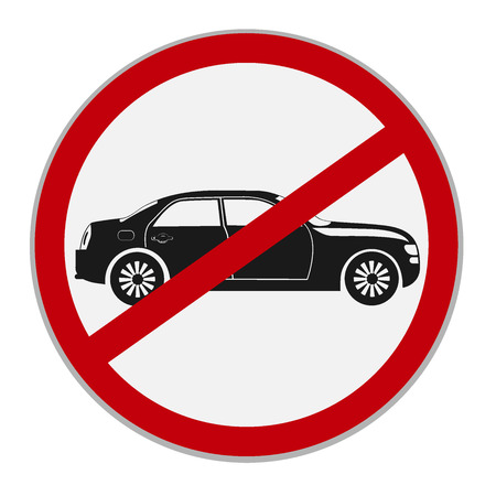 No cars, no parking sign, vector illustration Stock Vector - 73123424