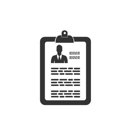 Resume, cv, notes, icon, vector