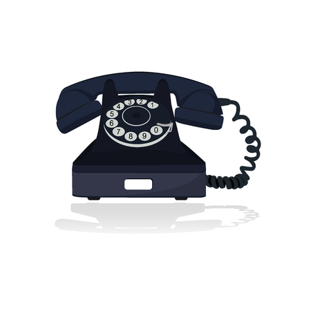 old phone: Old telephone illustration Illustration
