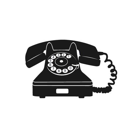 old telephone, icon, vector