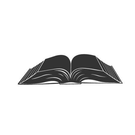 Open book, icon, vector. Illustration