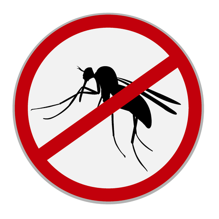 mosquitos: No mosquitoes sign, vector illustration Illustration