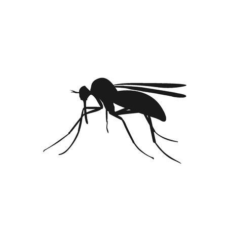 icon of mosquito, vector illustration Illustration