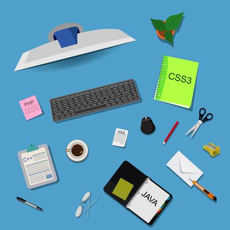 Programming, vector illustration