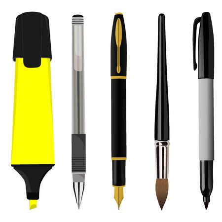 Pen sets, vector illustration