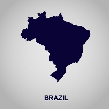 Brazil map, vector illustration