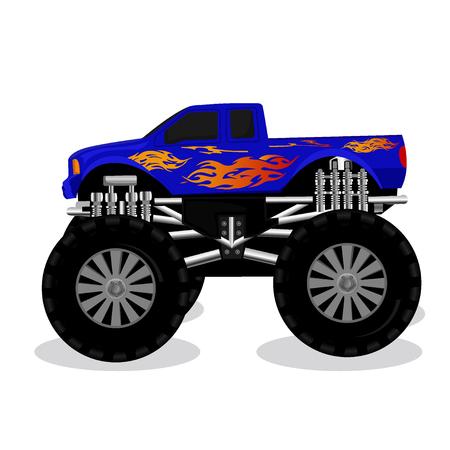 Monster truck, vector illustration