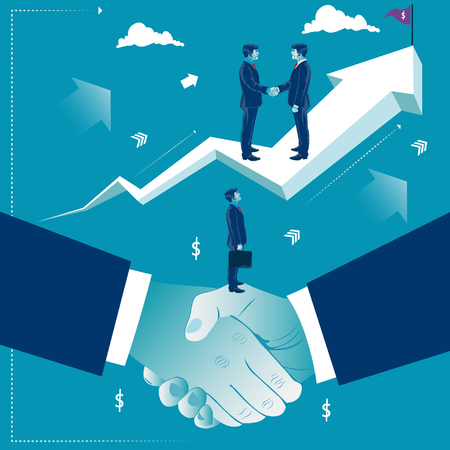Handshake and good deal. Business concept vector illustration