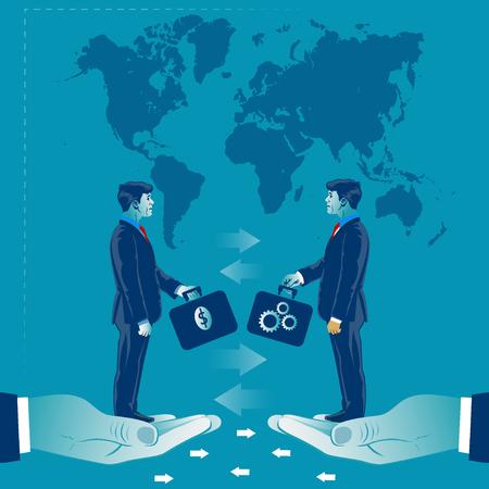 Money exchange for good ideas. Business concept vector illustration 向量圖像