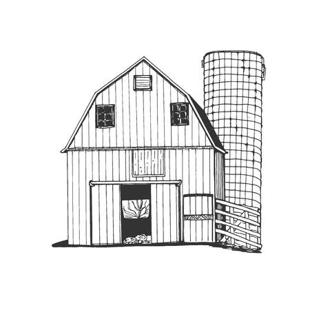 Farm hand drawn. Sketch vector illustration 版權商用圖片 - 98884996